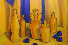 """Still-life in yellow shades"", 2018, canvas/oil, 50х60cm"