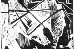 """Shattered Window"", 2002, X3, 18x17cm"