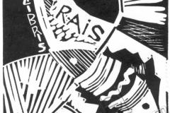 """""""Rice's Exclibis"""", 2003, X3, 10x9cm"""
