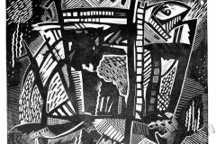 """Fish-whale"", 2004, X3, 40x42cm"