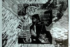 """Creation 1"", 2005, X3, 31.5x31.5cm"