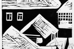 """Roofs 1"", 2013, X3, 10x10cm"