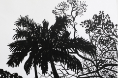 """""""Palm trees 1"""", March 2009, paper/acrylic"""
