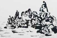 """Rocks 2"", March 2009, paper/monotype"