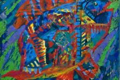 """""""Fish 1"""", 2011, paper/mixed media, 40x40cm"""