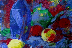 """Still life with lemon"", 2011, paper/mixed media, 32x32cm"