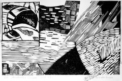 """Unknown planet"", 2005, X3, 19x31cm"