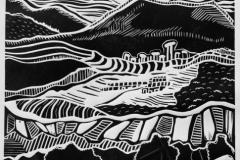 """Zygalga. Stone river 1"", 2016, X3, 40x32cm"