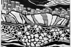 """Zygalga. Stone river 2"", 2016, X3, 40x32cm"