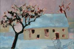 "\""Nightfall\"", 2002, canvas/oil, 60x70"
