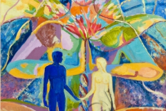 """""""Adam and Eve"""", 2011, canvas/oil, 80x60"""