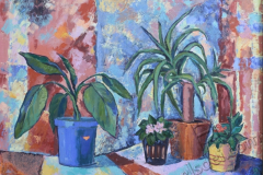 """""""From the life of plants 1"""", 2011, canvas/oil, 50x70"""