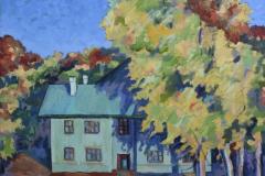 """Autumn in the yard"", 2012, canvas/oil, 60x60"