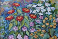 """Gerberas"", August 2013, canvas/oil, 50x60"