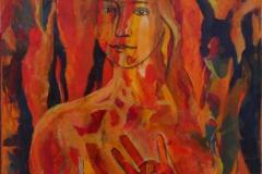 """Fire"", October 2015, canvas/acrylic, 70x50"