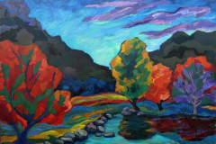 """""""The gorge of the river Zilim"""", 2017, canvas/oil, 60х80cm"""