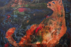 """Listening to the night"" 2017, canvas/acrylic, 40х50cm"