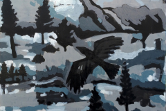 "Winter night"", 2019, canvas/acrylic, 100х80cm"