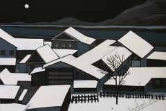 """Roofs 1"", 2019, canvas/acrylic, 70х95cm"