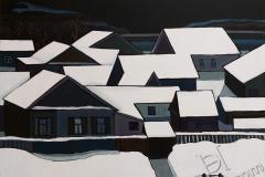 """Roofs 2"", 2019, canvas/acrylic, 80х90cm"