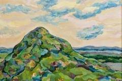 """Mountain 2"", 2004, canvas/oil, 70x90"