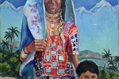 """Karnataka Lady"", 2009, canvas/oil, 100x80"