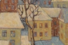 """""""Winter in the yard"""", 2009, canvas/oil, 70x50"""