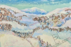 """Winter in the Mountains"", 2011, canvas/oil, 60x80"