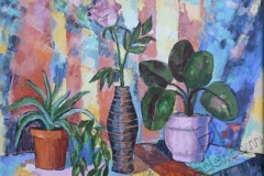 """""""From the life of plants 3"""", 2011, canvas/oil, 50x70"""