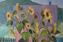 """Sunflowers"", August 2013, canvas/oil, 40x50"