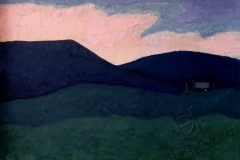 """""""Dawn"""", 2013, cardboard/oil, 30x40"""